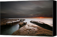 Long Canvas Prints - La Jolla Reef Sunset Canvas Print by Larry Marshall