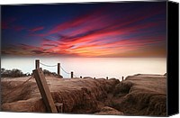 Sand Canvas Prints - La Jolla Sunset 2 Canvas Print by Larry Marshall