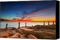 Long Canvas Prints - La Jolla Sunset 3 Canvas Print by Larry Marshall