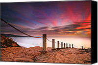 Long Canvas Prints - La Jolla Sunset 4 Canvas Print by Larry Marshall