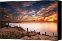 Sand Canvas Prints - La Jolla Sunset Canvas Print by Larry Marshall