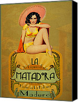 Pin Up Canvas Prints - la Matadora Canvas Print by Cinema Photography