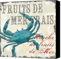 Grey Painting Canvas Prints - La Mer Shellfish 1 Canvas Print by Debbie DeWitt