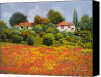 Tuscany Painting Canvas Prints - La Nuova Estate Canvas Print by Guido Borelli