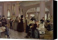 Sat Canvas Prints - La Patisserie Canvas Print by Jean Beraud