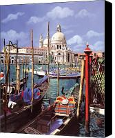Venice Canvas Prints - La Salute Canvas Print by Guido Borelli