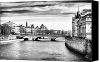 La Seine Canvas Prints - La Seine Canvas Print by John Rizzuto