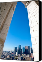 Downtown Los Angeles Canvas Prints - La Skyline From Los Angeles City Hall 27th Floor Canvas Print by Alexandre Fundone
