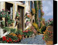 Spring Painting Canvas Prints - La Strada Del Lago Canvas Print by Guido Borelli