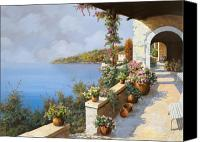 Sea Painting Canvas Prints - La Terrazza Canvas Print by Guido Borelli