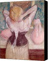 Dressing Canvas Prints - La Toilette Canvas Print by Edgar Degas