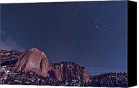 Land Feature Canvas Prints - La Ventana Arch With The Orion Canvas Print by John Davis