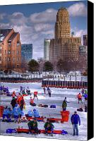 City Hall Canvas Prints - Labatt Pond Hockey 2011 Canvas Print by Don Nieman