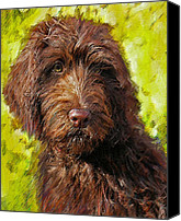 Mutt Canvas Prints - Labradoodle Canvas Print by Jane Schnetlage