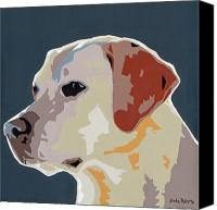 Dogs Canvas Prints - Labrador Canvas Print by Slade Roberts