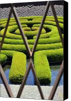 Clayton Canvas Prints - Labyrinth at The Getty Canvas Print by Clayton Bruster