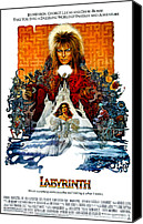 1980s Canvas Prints - Labyrinth, David Bowie, Jennifer Canvas Print by Everett