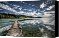 Cloudscape Canvas Prints - Lac Saint-point Canvas Print by Philippe Saire - Photography
