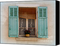 Window And Doors Canvas Prints - Lace in the Window Canvas Print by Lainie Wrightson