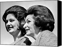 First Ladies Canvas Prints - Lady Bird Johnson, The First Lady Canvas Print by Everett