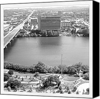 Instagram Canvas Prints - Lady Bird Lake Austin Canvas Print by James Granberry