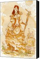 Victorian Canvas Prints - Lady Codex Canvas Print by Brian Kesinger