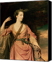 Stroking Canvas Prints - Lady Dawson Canvas Print by Sir Joshua Reynolds