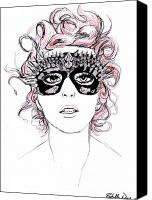 Bad Romance Canvas Prints - Lady Gaga 1 Canvas Print by Rachelle Dyer