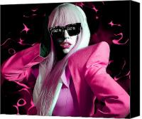 Anibal Diaz Canvas Prints - Lady Gaga by GBS Canvas Print by Anibal Diaz