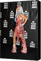 Nokia Theatre Canvas Prints - Lady Gaga In The Press Room For 2010 Canvas Print by Everett