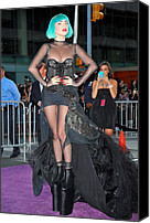 Alice Tully Hall At Lincoln Center Canvas Prints - Lady Gaga Wearing A Custom Mugler Canvas Print by Everett
