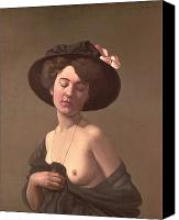 Undressing Canvas Prints - Lady in a Hat Canvas Print by Felix Edouard Vallotton