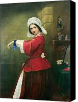 Breton Canvas Prints - Lady in French Costume Canvas Print by Edmund Harris Harden