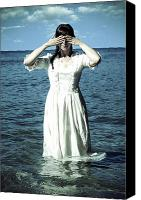 Woman And Nature Canvas Prints - Lady In Water Canvas Print by Joana Kruse
