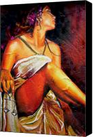 Justice Painting Canvas Prints - Lady Justice mini Canvas Print by Laura Pierre-Louis