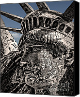 Independance Day Canvas Prints - Lady Liberty Canvas Print by Danuta Bennett