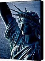 Kevin Sherf Canvas Prints - Lady Liberty Canvas Print by Kevin  Sherf