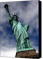 Copper Harbor Canvas Prints - Lady Liberty Canvas Print by William  Todd