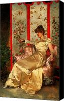Sat Canvas Prints - Lady Reading Canvas Print by Joseph Frederick Charles Soulacroix