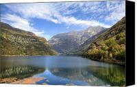 Lago Canvas Prints - Lago di Vogorno Canvas Print by Joana Kruse