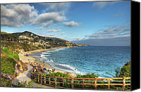 California Canvas Prints - Laguna Beach Shoreline Canvas Print by Eddie Yerkish