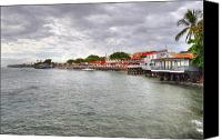 Lahaina Canvas Prints - Lahaina Postcard Canvas Print by Kelly Wade