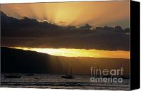 Lahaina Canvas Prints - Lahaina Sunset - Maui Canvas Print by Sandra Bronstein