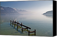 Flock Of Birds Canvas Prints - Lake Annecy (lac Dannecy) Canvas Print by Harri