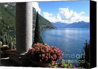 Lago Di Como Canvas Prints - Lake Como Canvas Print by Mary Ellen  Mueller-Legault