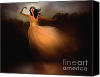 Dancer Digital Art Canvas Prints - Lake Dancer Canvas Print by Robert Foster