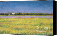 Storm Pastels Canvas Prints - Lake Farm Canvas Print by Karen Berning