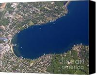 Lake Geneva Wisconsin Canvas Prints - Lake Geneva City A Canvas Print by Bill Lang
