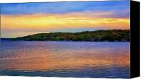 Lake Geneva Wisconsin Canvas Prints - Lake Geneva Sunset Canvas Print by Joe Urbz