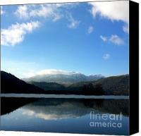 Icy Canvas Prints - Lake in Auvergne Canvas Print by Bernard Jaubert